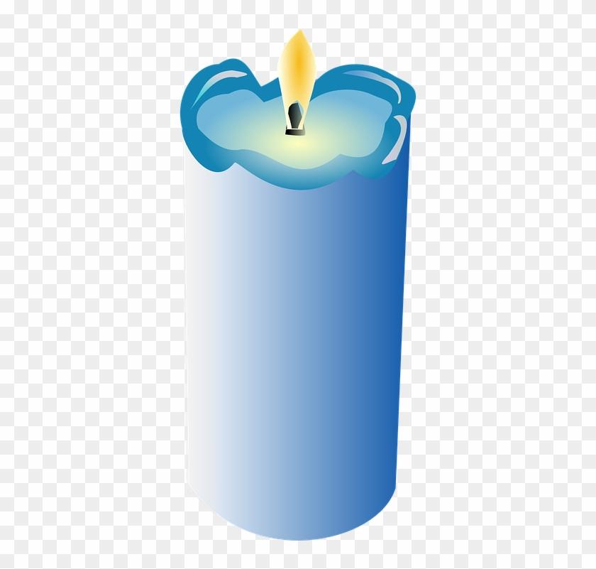 Free Vector Graphic - Kerze Clipart Blau #848419
