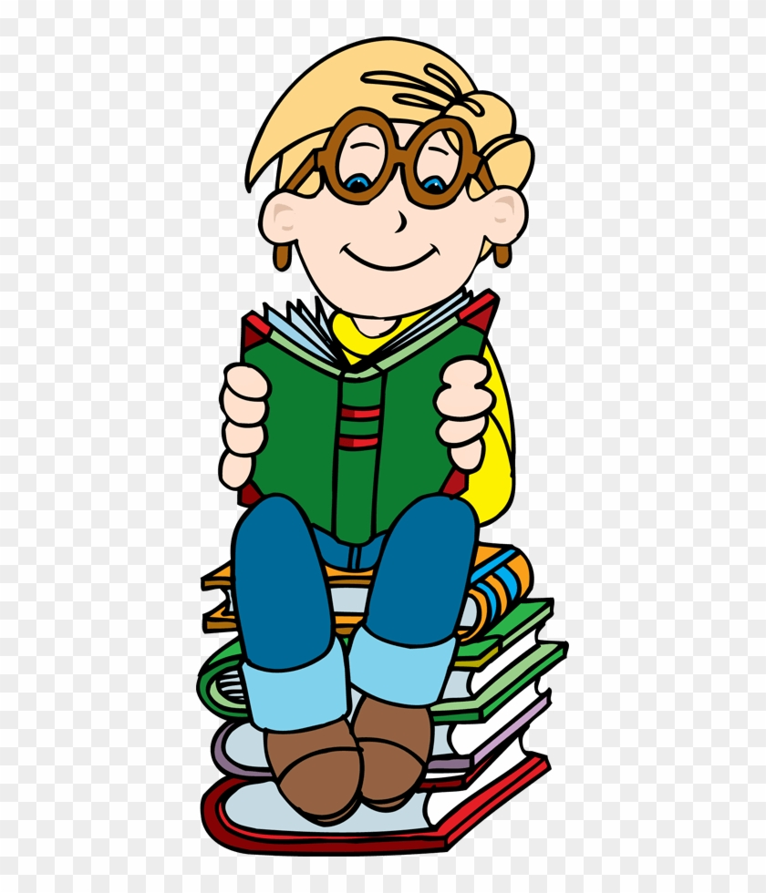 Girl Reading Clipart - Clipart Boy With Books #848664