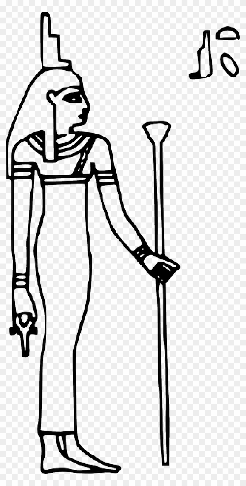 Sign, Outline, Symbol, Queen, Egypt, Goddess, Ancient - Draw Isis Egyptian Goddess #849775
