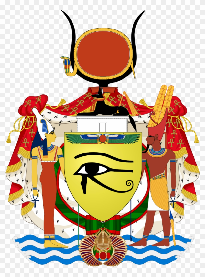 Royal Coat Of Arms Of Egypt By Claudius42 - Eye Of Horus Tile Coaster #849782
