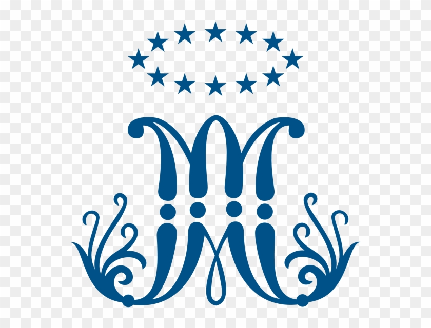 Marys Monogram Blessed Virgin Mary Symbol Free Transparent Png