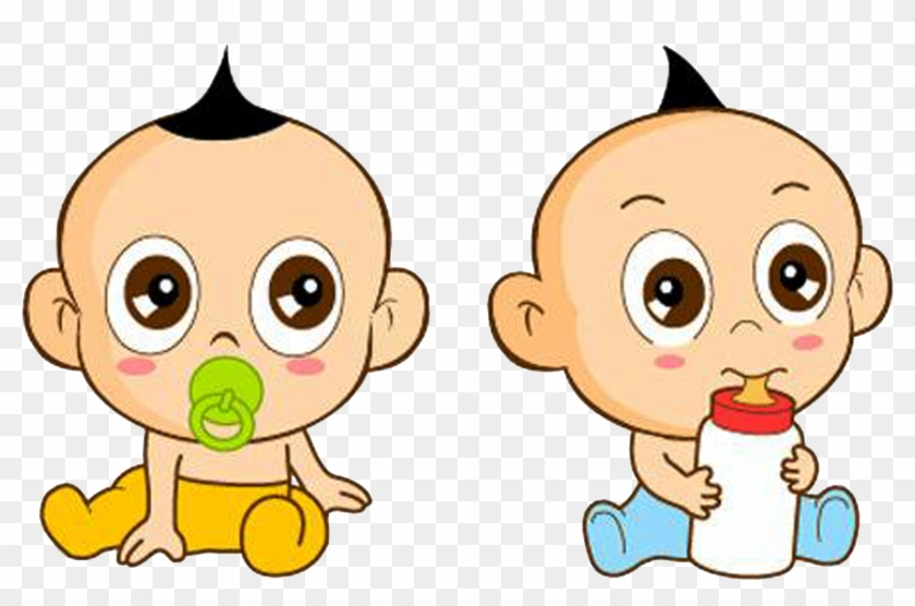 Infant Cartoon Milk Child - Baby Twin Icon Png #851166