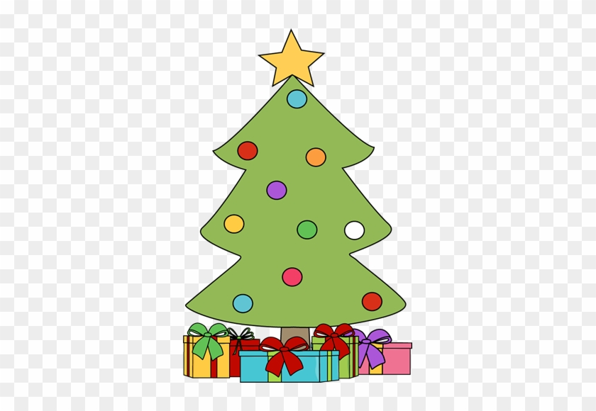 Christmas Tree With Presents Clip Art Images Library - Christmas Tree And Presents Clip Art #851159