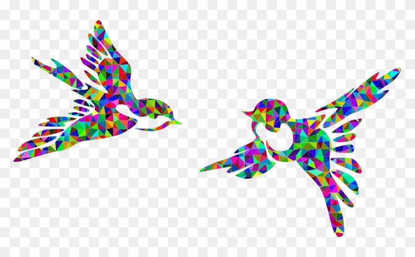 Medium Image - Colorful Bird Flying Clipart #851615