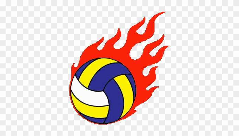 Free Flaming Volleyball Clipart Image - Volleyball Ball With Fire #852102