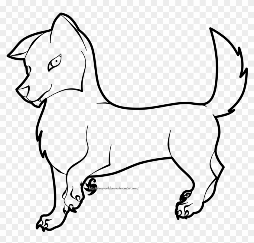 Simple Wolf Pup Drawing Drawing Free Transparent Png