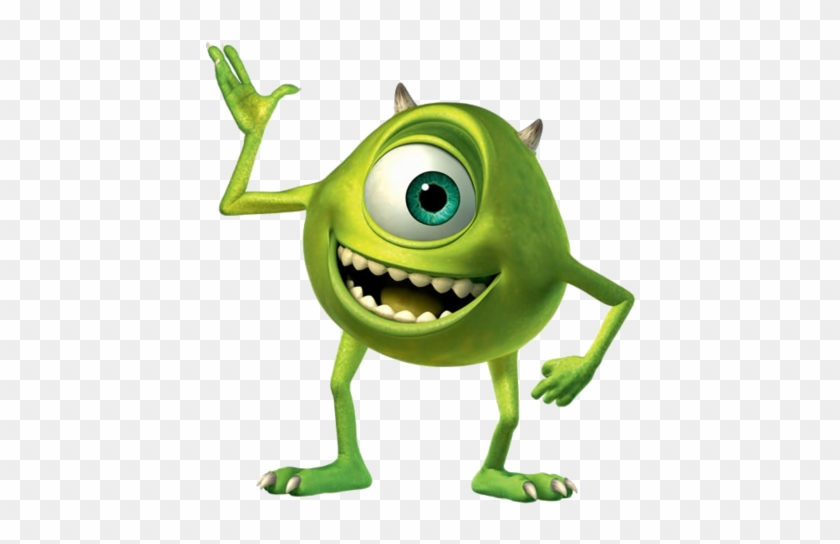 Mike Wazowski Is A Green Monster From Monsters Inc Mike From Monsters Inc Free Transparent Png Clipart Images Download