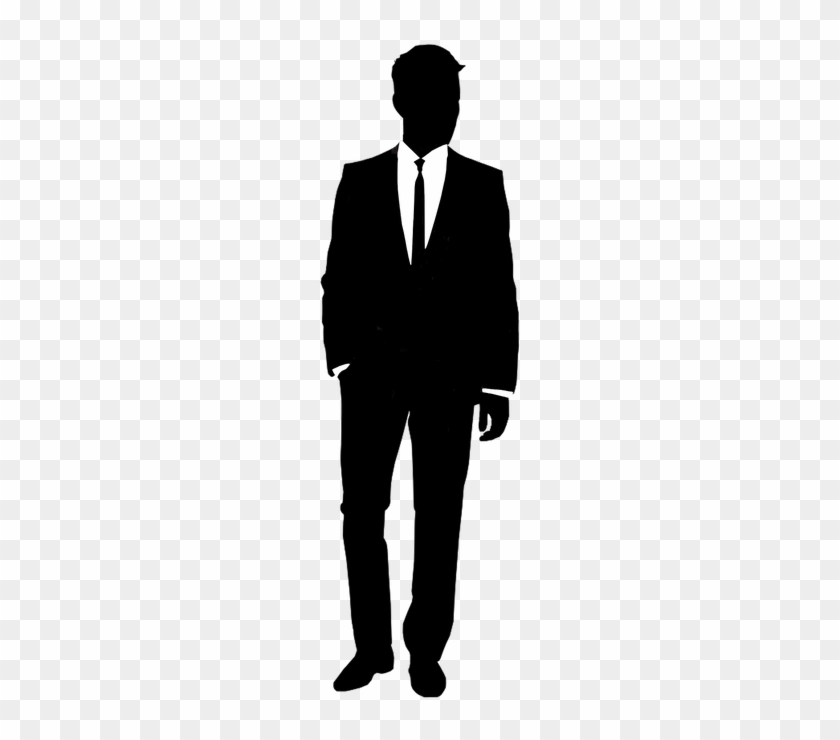 Unfortunate Men S Fashion Silhouette Suit Free Transparent Png