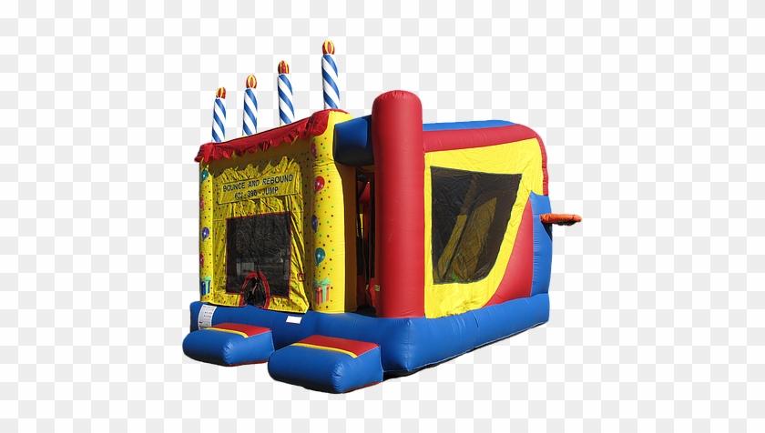 Birthday Cake Inflatable Bouncer - Bounce House Rentals Az #852825
