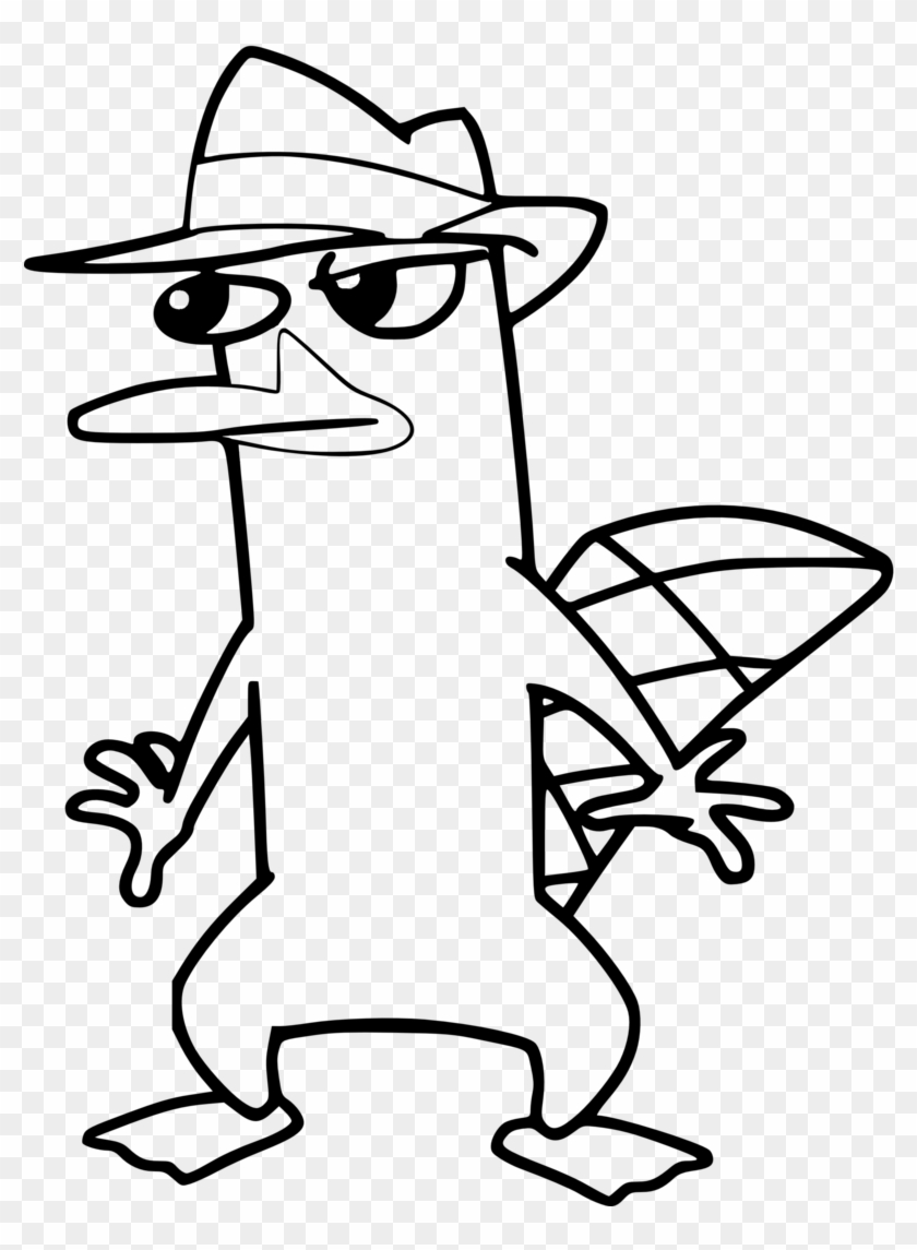 platypus coloring pages platypus perry drawing free