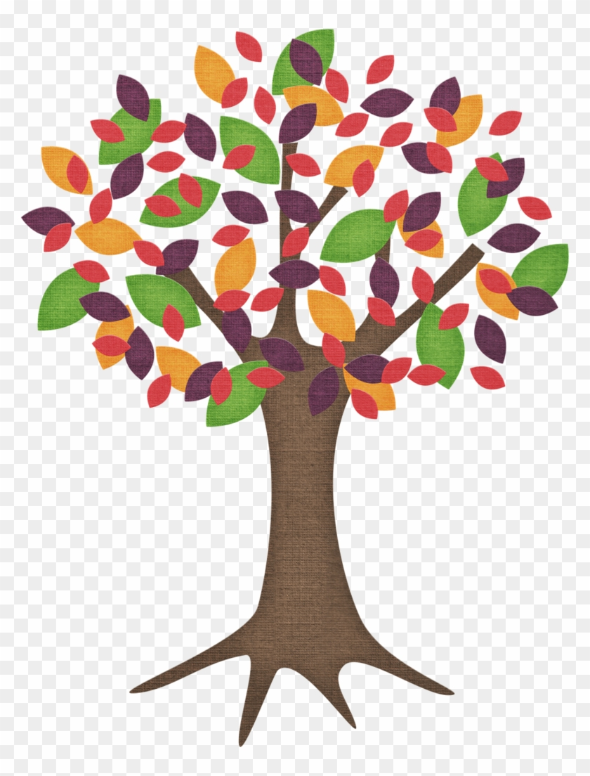 Cartoon Trees With Colored Leaves Free Transparent Png Clipart