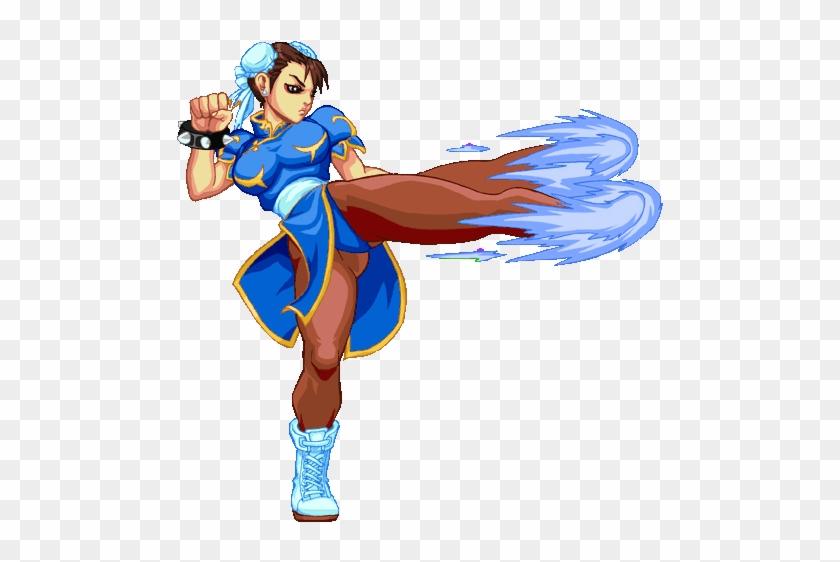 Chun Li Sirlin Net Game Design Chun Li Street Fighter Kick