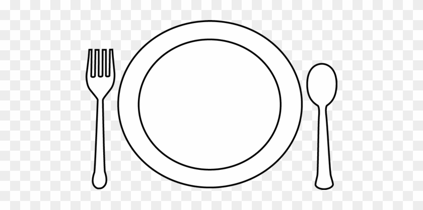 28 Collection Of Plate Drawing Png - Plate Black And White Clipart  (#5359921) - PinClipart