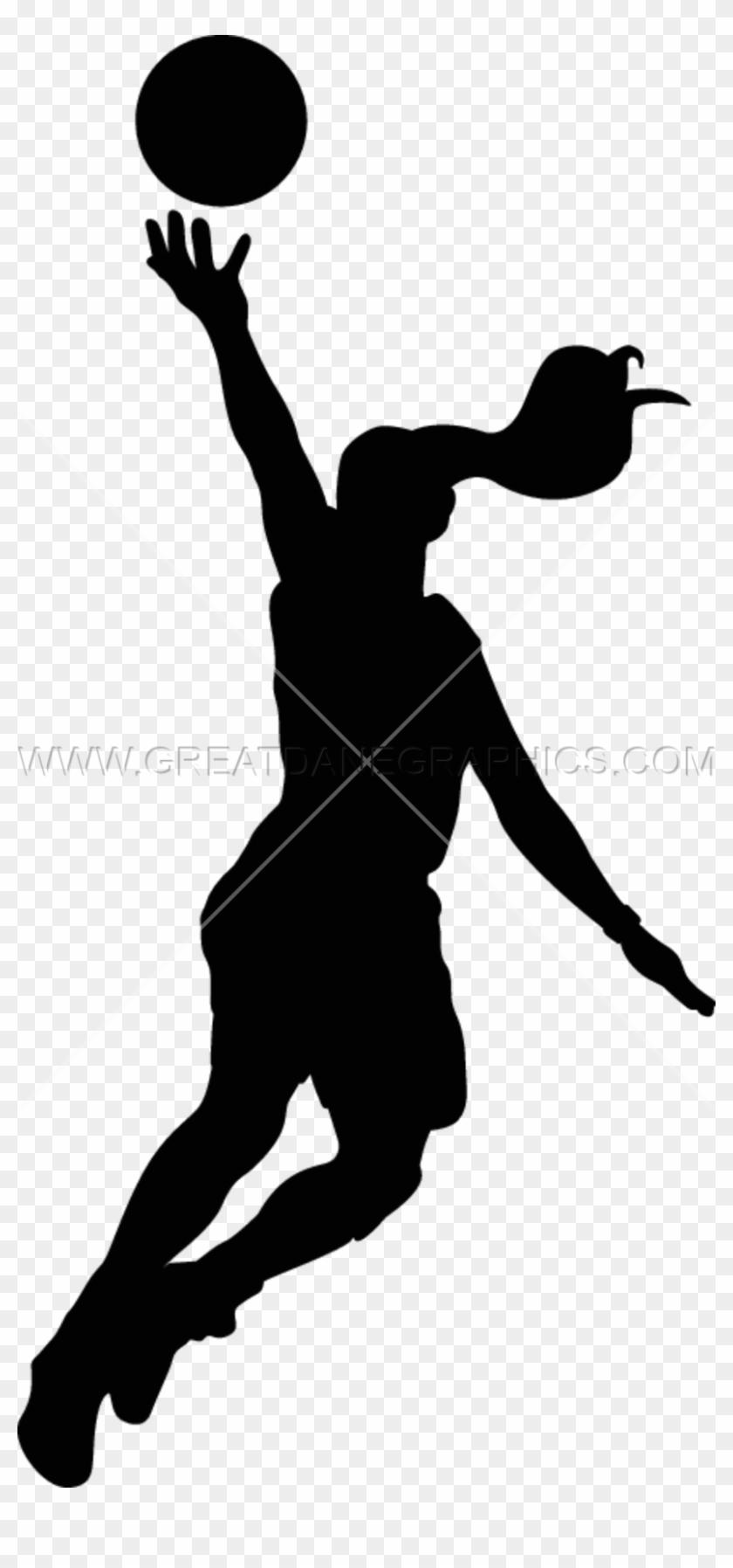 Girls Basketball Layup - Girl Basketball Player Silhouette #855051