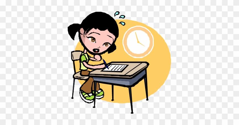 Student Sweating Aims - Animated Pictures Of Students Studying #855499