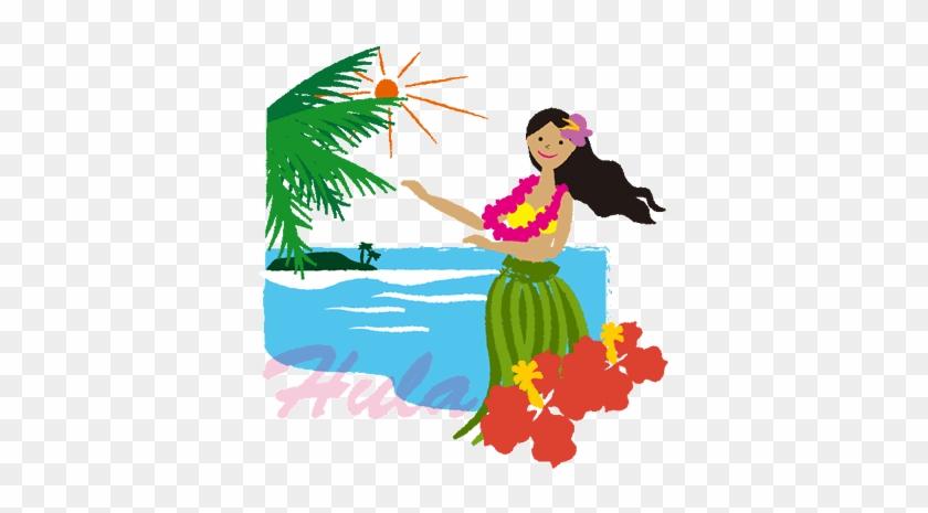 フラダンスにはいくつかの伝説があるんですよ ハワイ イラスト