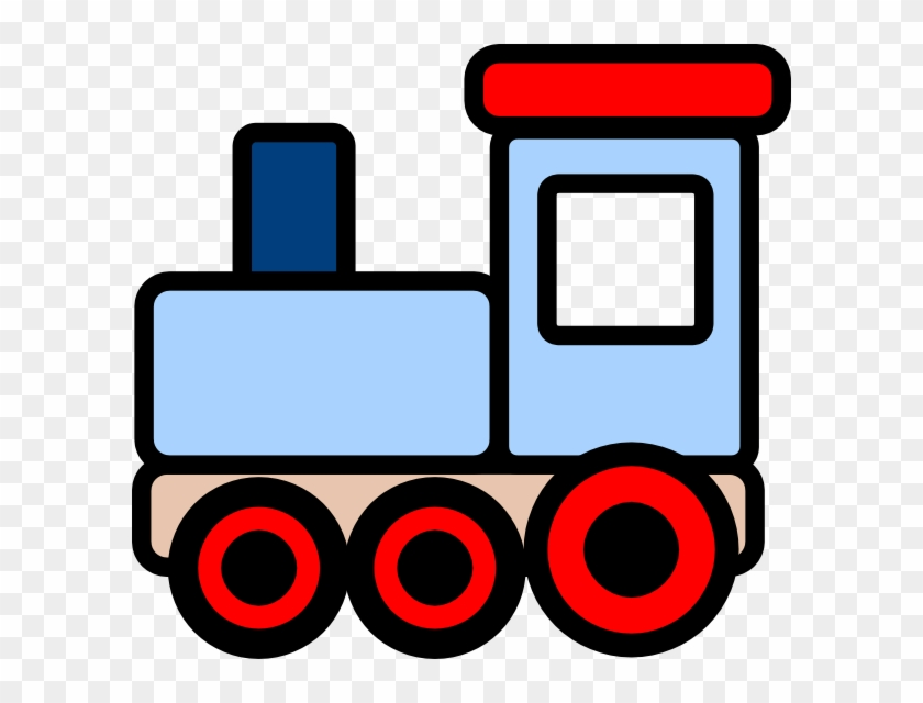 Locomotive Clipart Blue Train - Train Clipart #855548