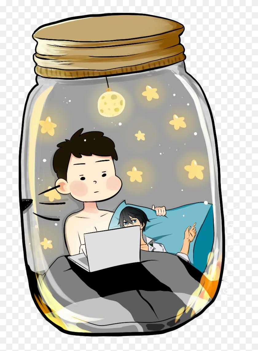 Mini Philip And Meme Mini Daniel In The Jar (and They - Dan And Phil In Jar #856327