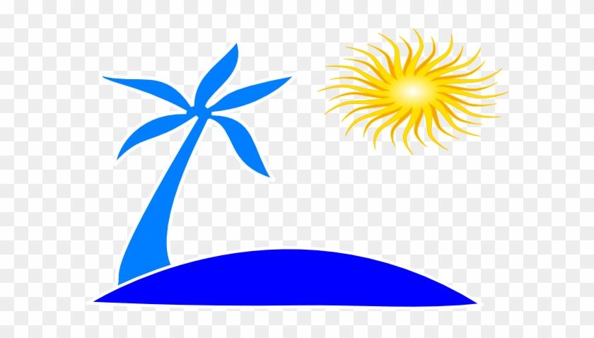 Hawaii Beach Clipart - Palm Tree And Beach Logo #856339