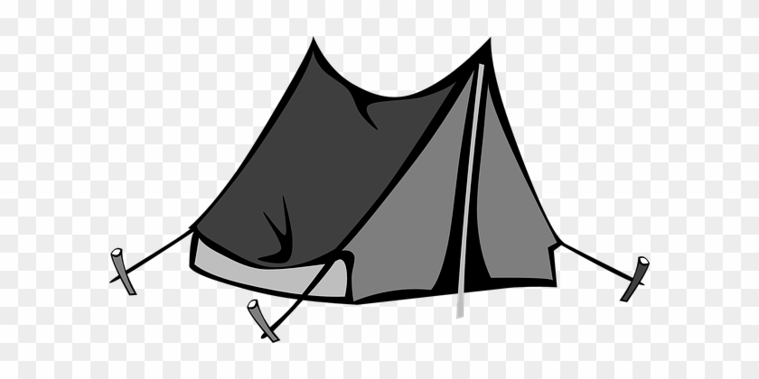 Camping Tent Canvas Camp Summer Outdoors G - Camping Tent Clipart #856722