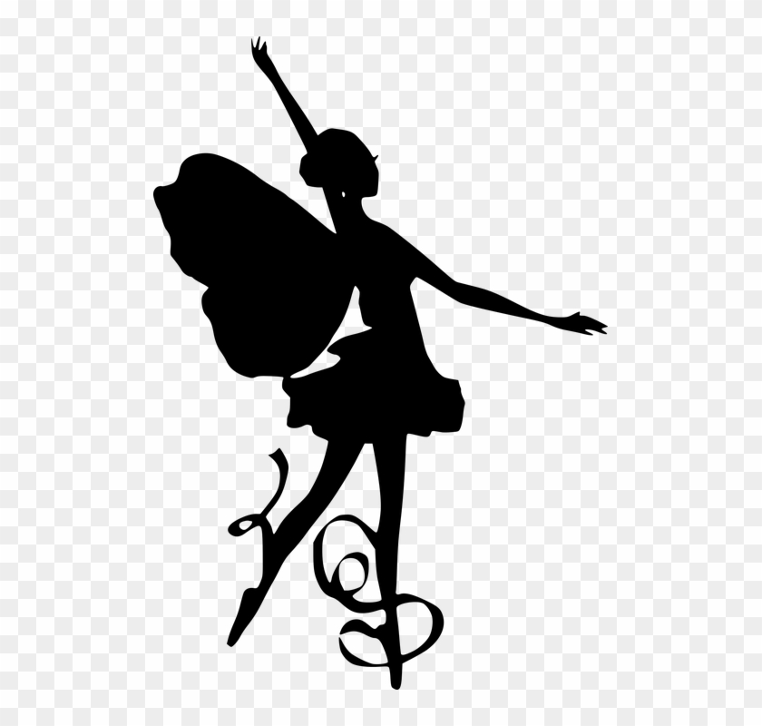 Silhouette Ballet Dancing Wings Butterfly Jumping Dance Free Transparent Png Clipart Images Download