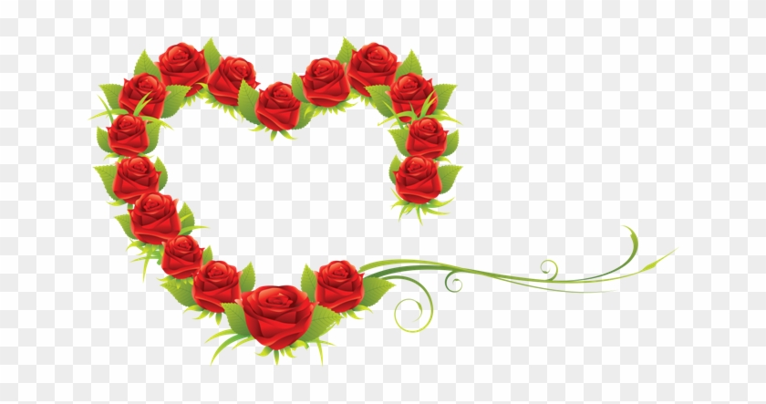 Red Roses And Hearts - Happy Valentines Day Images Png #857362