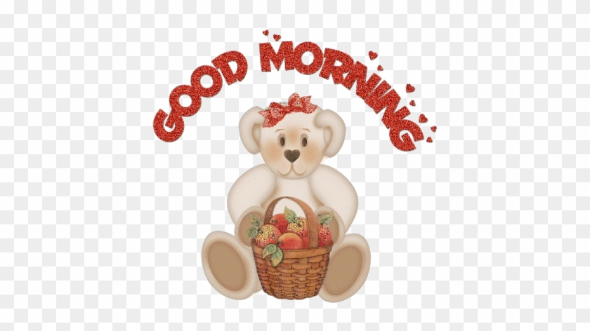Extras Good Morning With Teddy Bear Gif Free Transparent Png