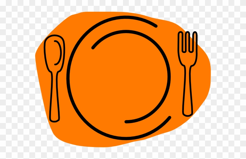 Basic Words - Plate Fork And Knife Clipart #858903