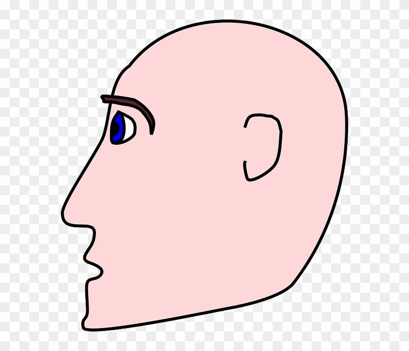 bald head people man profile person cartoon side cartoon
