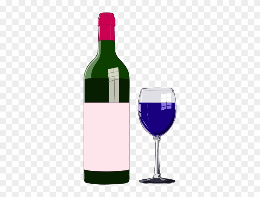 Wine Bottle And Glass Clip Art - Bottle Of Wine Clipart #859886