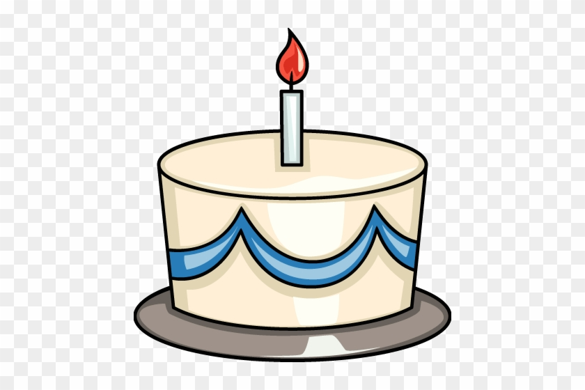 Birthday Cake - Birthday Cake With One Candle Clipart #861348