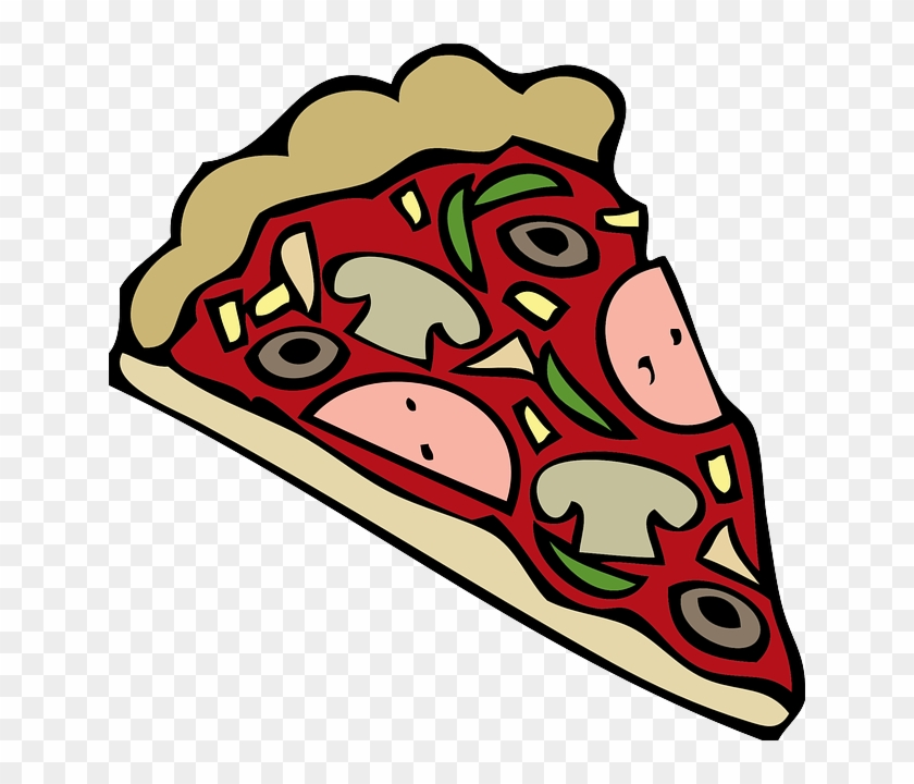 Clipart Of Martin, Animation And Pizza - Pizza Tekening #155800