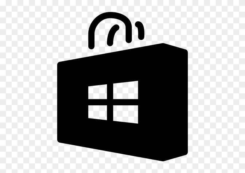 Microsoft Store Icon - White Microsoft Store Icons #155952