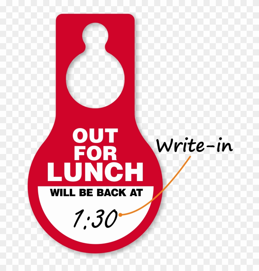"""Out To Lunch Signs Out Of Office Signs Clipart - Caution (blank), Dry Erase Aluminum 40 Mil Sign, 14"""" #156451"""