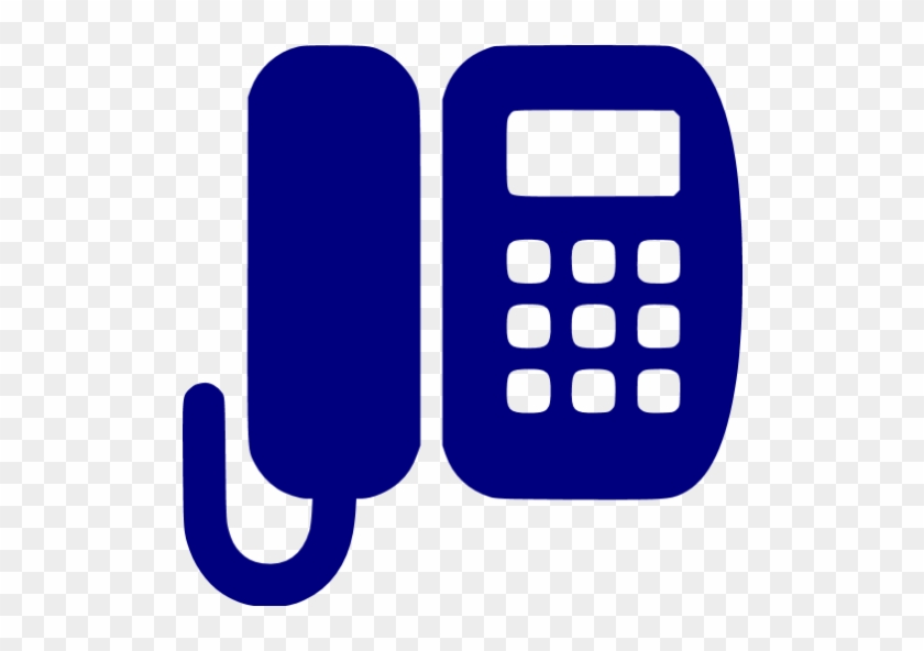 Navy Blue Office Phone Icon - Office Phone Icon Png - Free