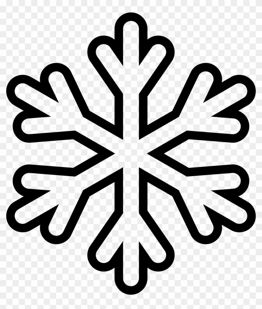 - Snowflake Clipart Outline Xigkkle5t - Snowflake Coloring Pages