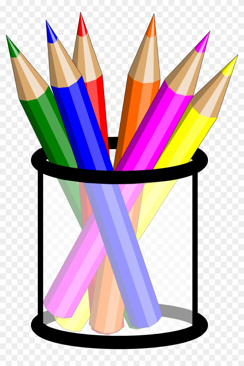 Pencils In A Cup Clipart - Colored Pencils Clipart Png #157006