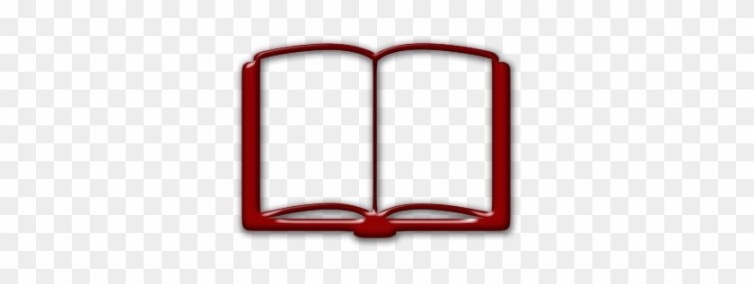 Red Clipart Open Book - Red Open Book Icon #157492