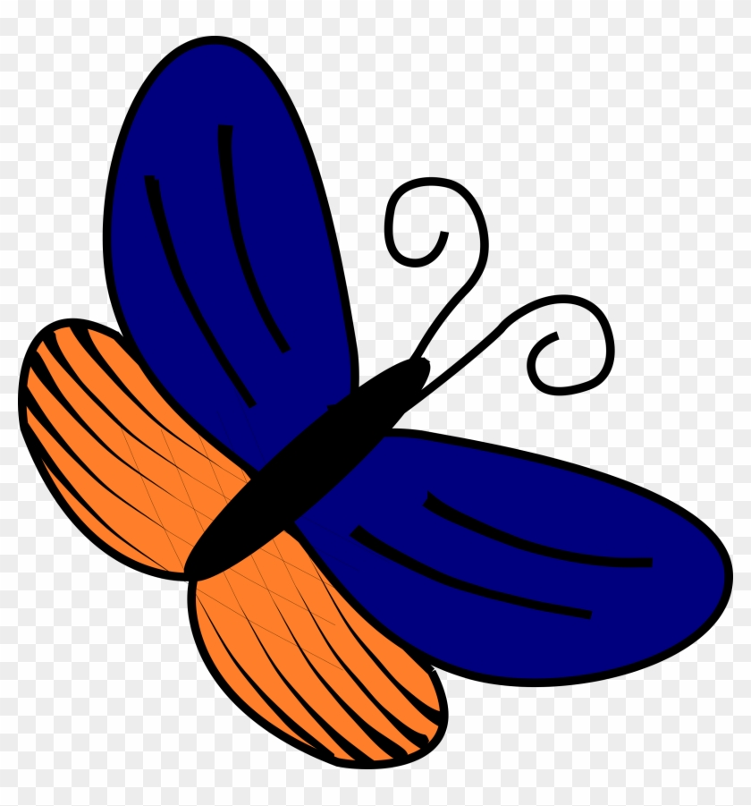 Blue And Orange Butterfly Clipart #157615