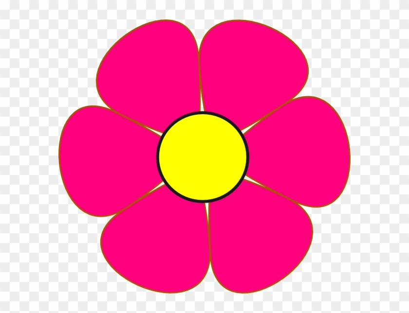 pink and yellow flower clip art at clker cute flower clipart png rh clipartmax com free yellow flower clipart yellow flower clip art free
