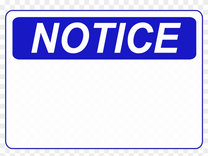 notice sign template word