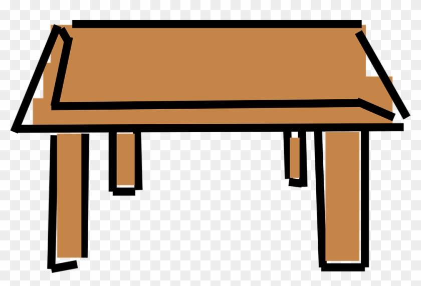 Desk Clipart Wood Furniture Cartoon Desk Free Transparent Png