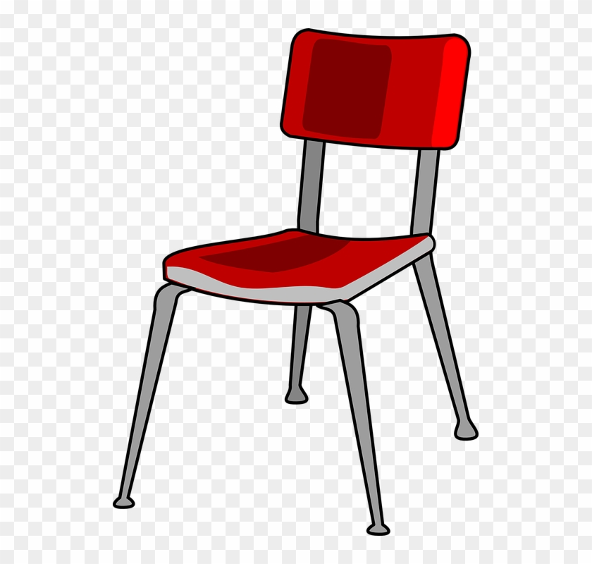 Chair Red Metal School Office   Chair Clipart