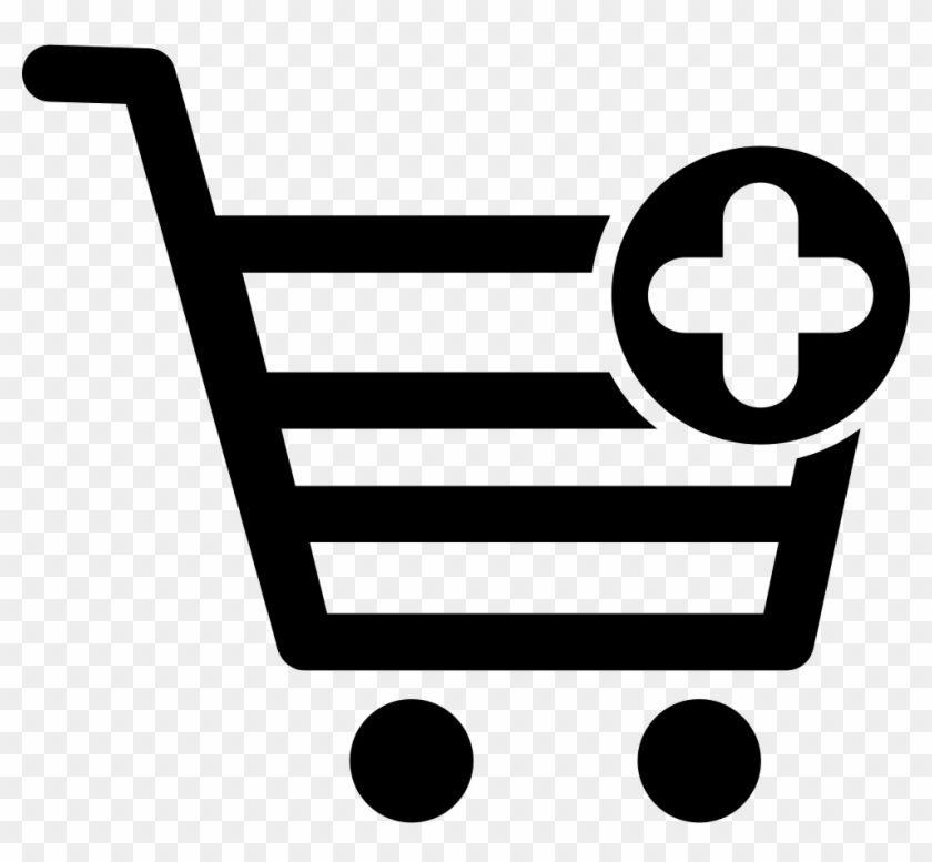 Png File - Shopping Cart Plus Icon #158977