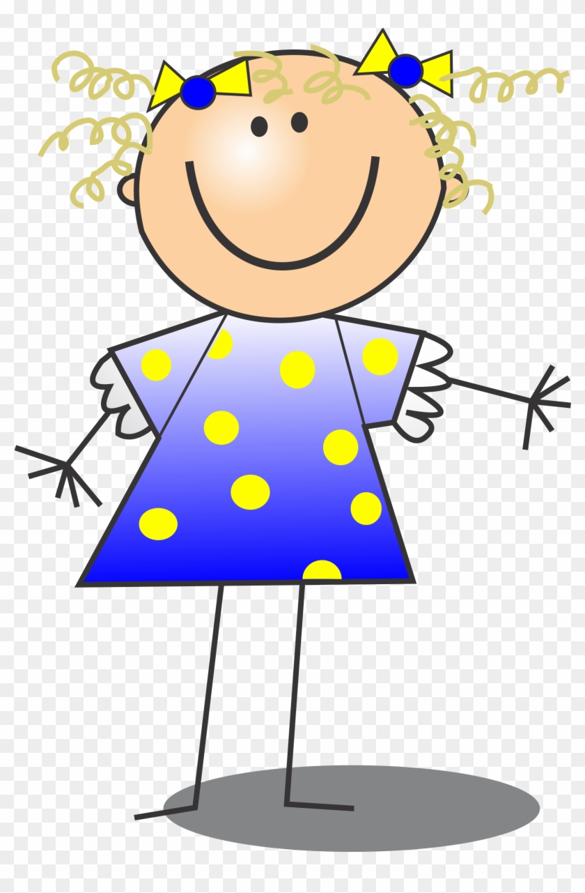 Big Image - Stick Figure Girl Clipart #159117