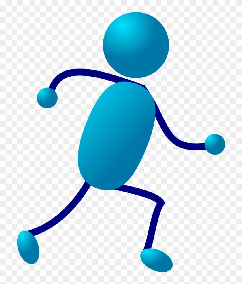Stickman Clip Art - Stick Man Running #159208