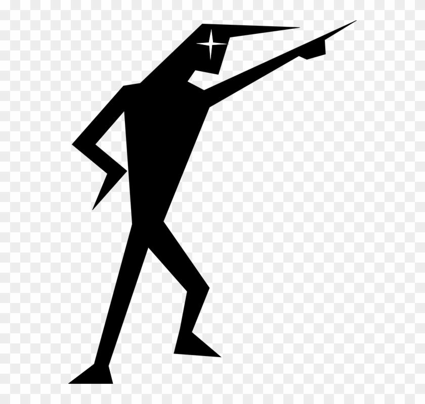 man silhouette pointing stick figure index finger stick figure