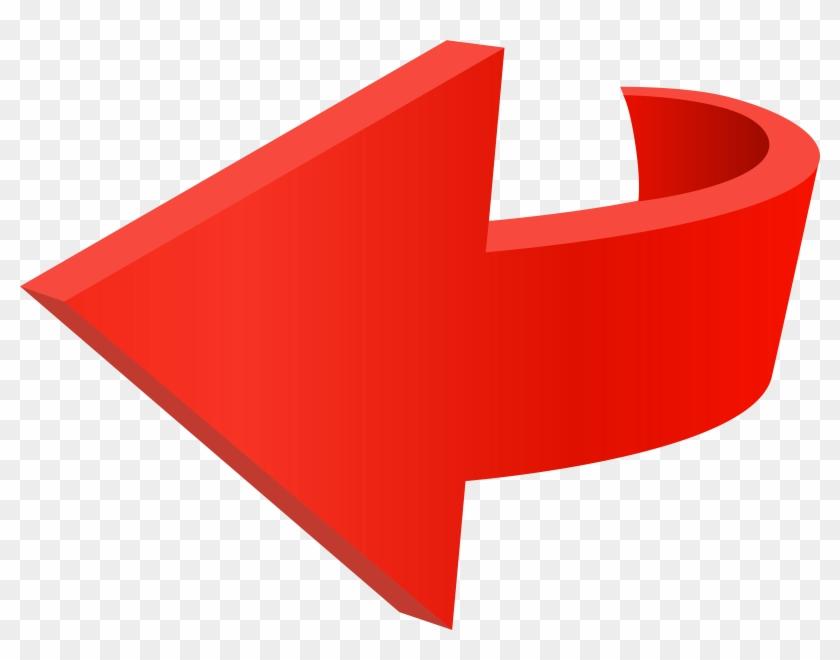 Left Red Arrow Transparent Png Clip Art Image - Roter Pfeil Png #159591