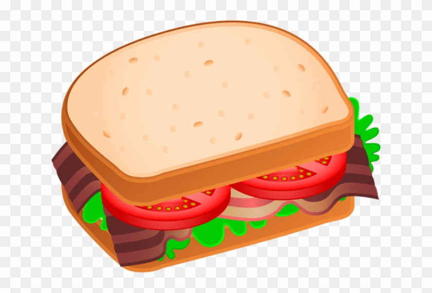 Sandwiches Cliparts - Bacon Lettuce Tomato Clipart #159793