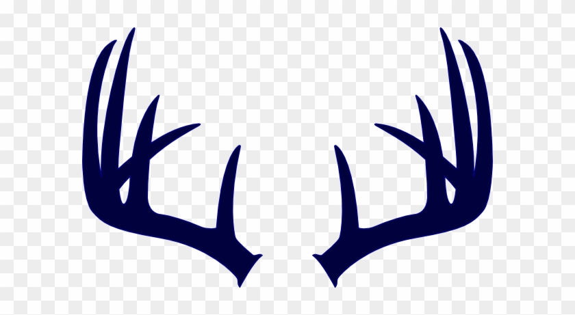 Navy Deer Antlers Clip Art At Clker Deer Antlers Svg Free Transparent Png Clipart Images Download